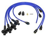 8MM TAYLOR SPIRO SPARK PLUG IGNITION WIRES - BLUE - VIRGIN SILICONE JACKET & CORE