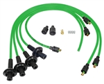 8MM TAYLOR SPIRO SPARK PLUG IGNITION WIRES - LIME GREEN - VIRGIN SILICONE JACKET & CORE