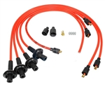 8MM TAYLOR SPIRO SPARK PLUG IGNITION WIRES - ORANGE - VIRGIN SILICONE JACKET & CORE