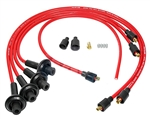 8MM TAYLOR SPIRO SPARK PLUG IGNITION WIRES - RED - VIRGIN SILICONE JACKET & CORE