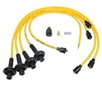 8MM TAYLOR SPIRO SPARK PLUG IGNITION WIRES - YELLOW - VIRGIN SILICONE JACKET & CORE