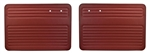 Bug Convertible & Sedan -67-77 FRONT ONLY - AUTHENTIC DOOR PANELS - SMOOTH VINYL - NO POCKETS