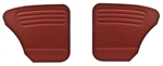 Bug -56-64 REAR ONLY - AUTHENTIC DOOR PANELS - OEM CLASSICS / VINTAGE VINYL / VELOUR / TWEED - NO POCKETS