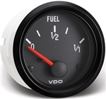 VDO V301015 - BLACK COCKPIT SERIES GAUGES - FUEL GAUGE, 10-180 OHMS, REQUIRES SENDING UNIT P/N: V226001