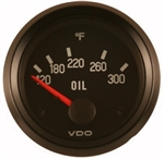 VDO V310012 - BLACK COCKPIT SERIES GAUGES - OIL TEMP GAUGE, 300 DEGREE