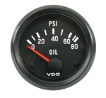 VDO V350040 - VDO BLACK COCKPIT - OIL PRESSURE GUAGE - ELECTRICAL - 0-80 PSI
